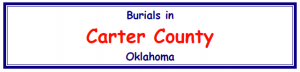 Carter County cemetary records