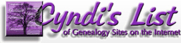 Cyndi's List of Geneaology Resources web site